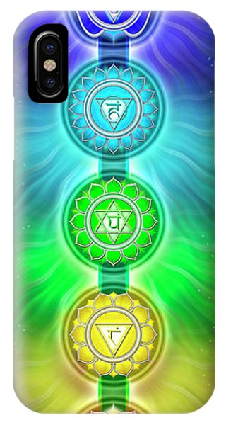 Sacred iPhone Case - The Seven Chakras - Series 2 by Dirk Czarnota