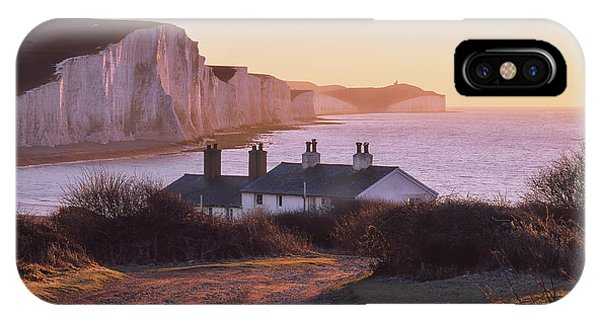 IPhone Case featuring the photograph The Seven Sisters Cottages by Will Gudgeon