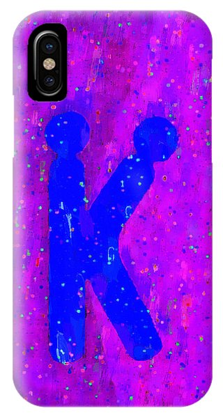 Having Fun iPhone Case - The Sexy K  - Blue -  - Da by Leonardo Digenio
