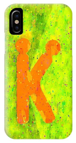 Having Fun iPhone Case - The Sexy K  - Orange -  - Da by Leonardo Digenio