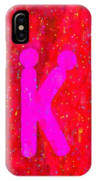 Having Fun iPhone Case - The Sexy K  - Pink -  - Da by Leonardo Digenio
