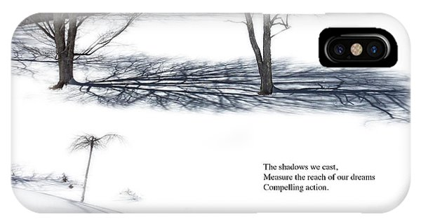IPhone Case featuring the photograph The Shadows We Cast Haiku by Wayne King