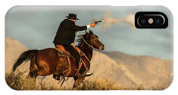 The Sharp Shooter Western Art By Kaylyn Franks IPhone Case