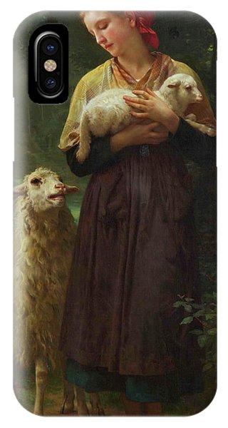 Amaryllis iPhone Case - The Shepherdess by Adolphe William Bouguereau