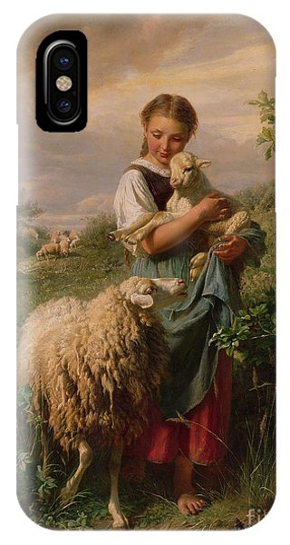 Season iPhone Case - The Shepherdess by Johann Baptist Hofner
