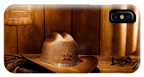 The Sheriff Office - Sepia IPhone Case