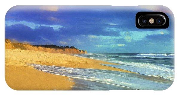 Half Moon Bay iPhone Case - The Shoreline At Half Moon Bay by Dominic Piperata