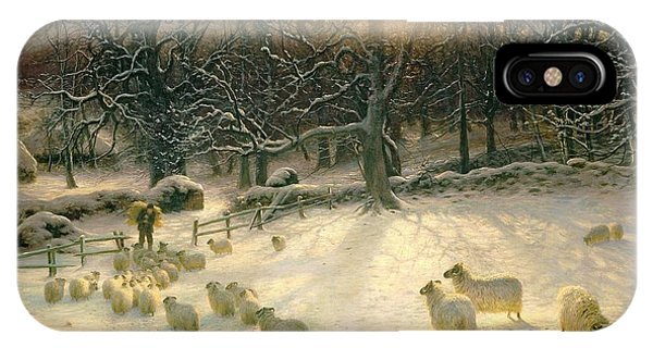 Sunset iPhone Case - The Shortening Winters Day Is Near A Close by Joseph Farquharson