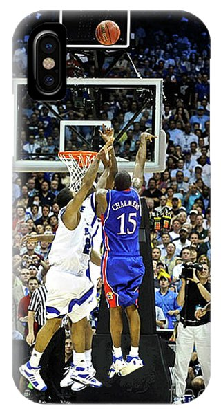 Larry Bird iPhone Case - The Shot, 3.1 Seconds, Mario Chalmers Magic, Kansas Basketball 2008 Ncaa Championship by Thomas Pollart