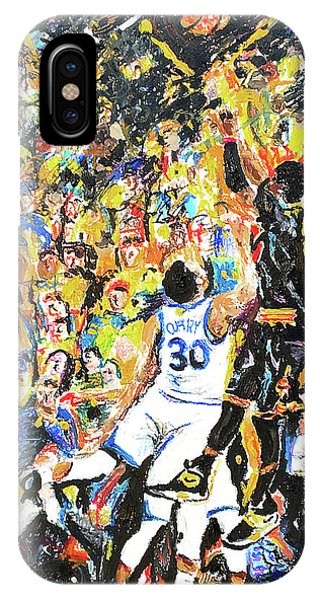 Kyrie Irving iPhone Case - The Shot by Patrick Geyser