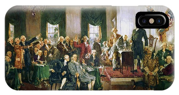 Capitol iPhone Case - The Signing Of The Constitution Of The United States, 1787 by Howard Chandler Christy