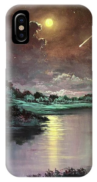 The Silence Of A Falling Star IPhone Case