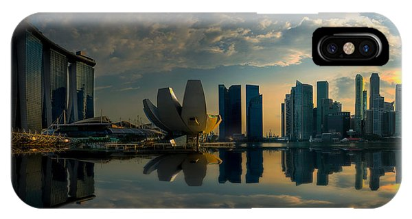 The Singapore Skyline IPhone Case