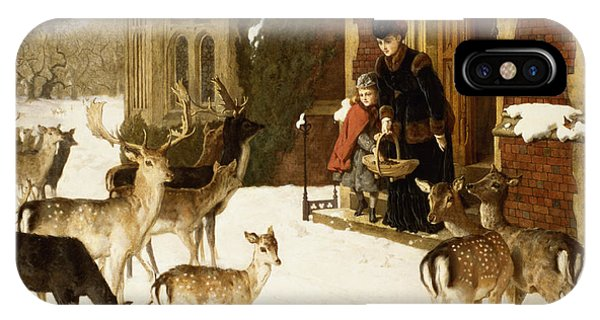 Stag iPhone Case - The Sisters Of Charity by Charles Burton Barber