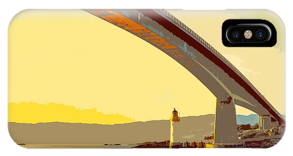 The Skye Bridge And Kyleakin Lighthouse  IPhone Case