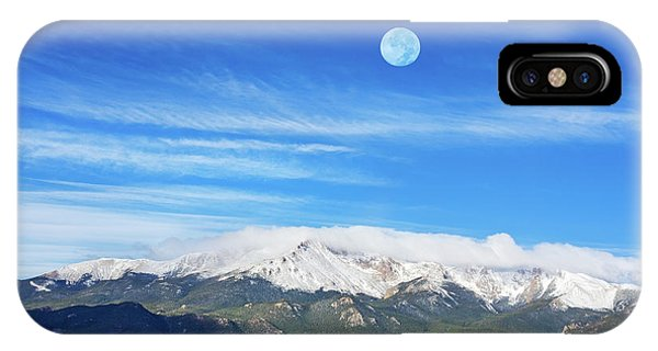 The Skyscraper That Towers Over My Hometown Reaches The Clouds At 14115 Feet Above Sea Level.  IPhone Case