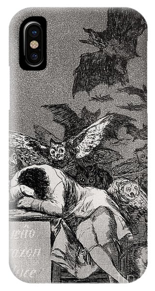 Engraving iPhone Case - The Sleep Of Reason Produces Monsters by Goya