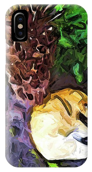 The Sleeping Cat And The Dead Tree Fern IPhone Case