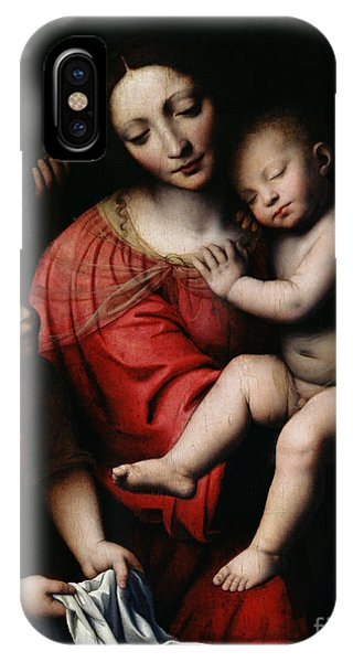 Life Of Christ iPhone Case - The Sleeping Christ by Bernardino Luini