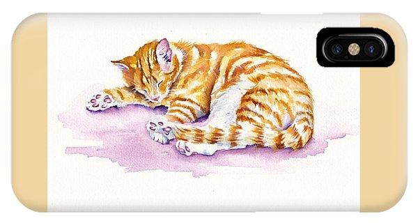 The Sleepy Kitten IPhone Case