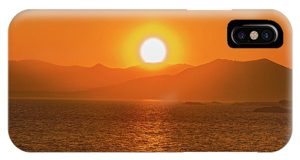 The Smoke From A Forest Fire Gave Us This Tangerine Sky Over 11-mile Reservoir State Park, Colorado. IPhone Case
