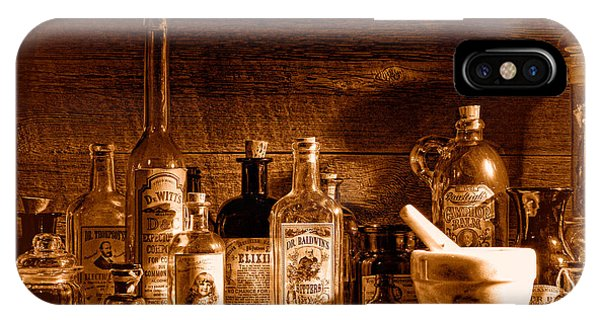 Potion iPhone Case - The Snake Oil Shop - Sepia by Olivier Le Queinec