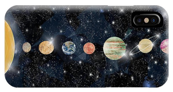 Solar System iPhone Case - The Solar System by Bri Buckley