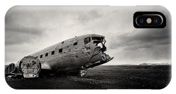 Airplanes iPhone Case - The Solheimsandur Plane Wreck by Tor-Ivar Naess