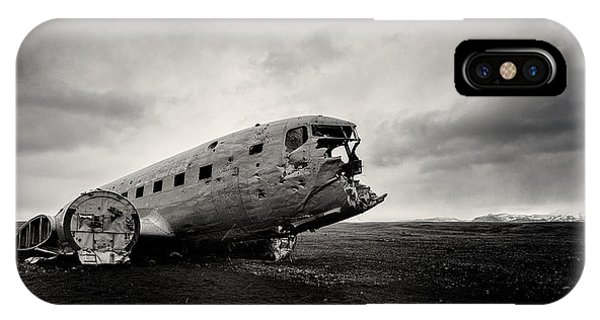 Airplane iPhone Case - The Solheimsandur Plane Wreck by Tor-Ivar Naess