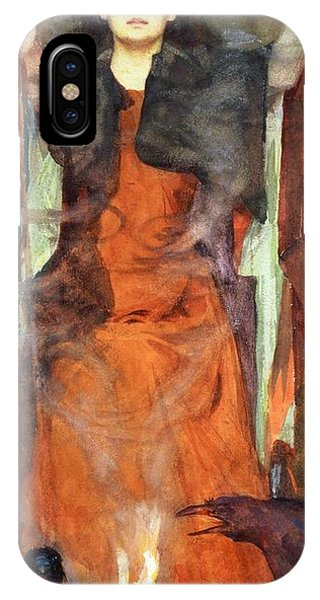 Staff iPhone Case - The Sorceress by Henry Meynell Rheam