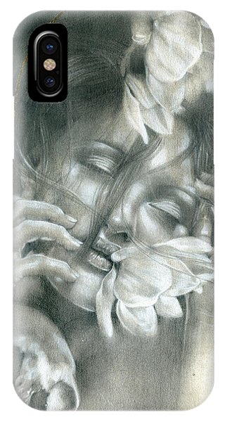 Figurative iPhone Case - The Soul Hovers Above All The Horizons by Patricia Ariel