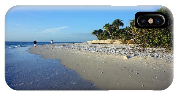 The South End Of Barefoot Beach In Naples, Fl IPhone Case