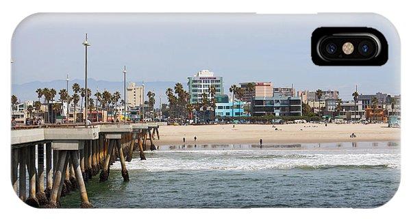 Venice Beach iPhone Case - The South View Venice Beach Pier by Ana V Ramirez