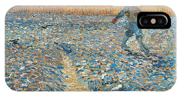 IPhone Case featuring the painting The Sower by Vincent van Gogh