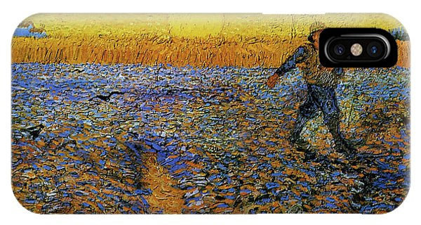 IPhone Case featuring the painting The Sower by Van Gogh