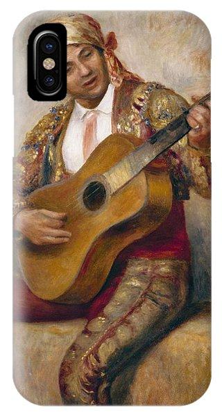 Strum iPhone Case - The Spanish Guitarist by Pierre Auguste Renoir