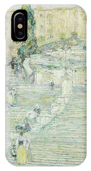 Spagna IPhone Case   The Spanish Stairs, Rome, 1897 By Childe Hassam
