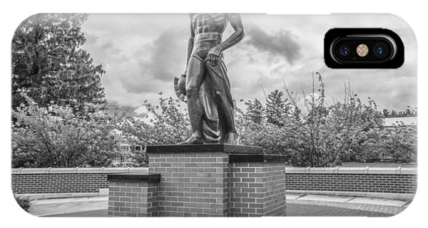 The Spartan Statue Black And White  IPhone Case