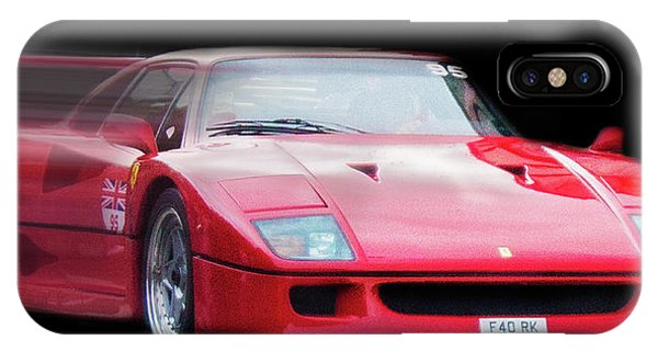 Auto Show iPhone Case - The Speed Of A Ferrari by Martin Newman