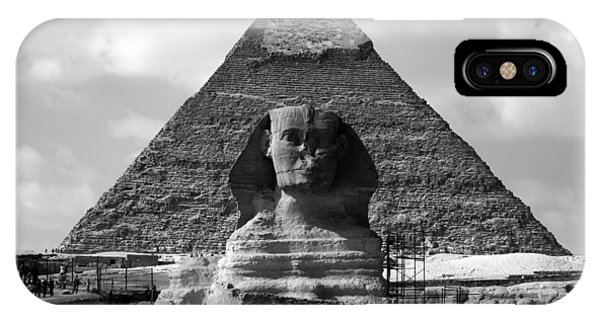 The Sphynx And The Pyramid IPhone Case
