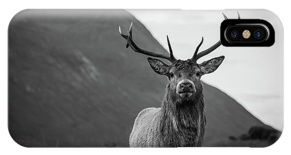 Scotland iPhone Case - The Stag.  by Mark Mc neill