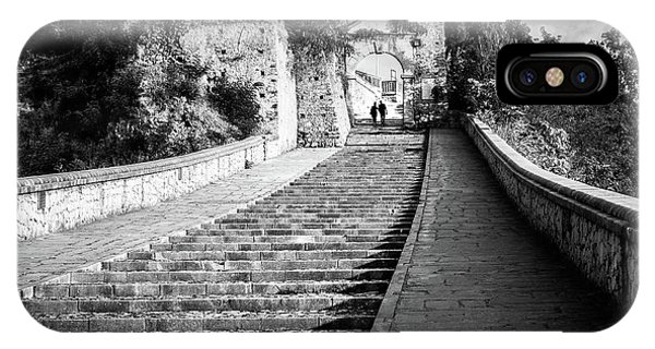 The Stairs - Paola, Italy - Black And White Street Photography Phone Case by Giuseppe Milo
