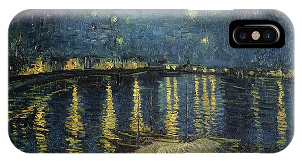 Reflection iPhone Case - The Starry Night by Vincent Van Gogh