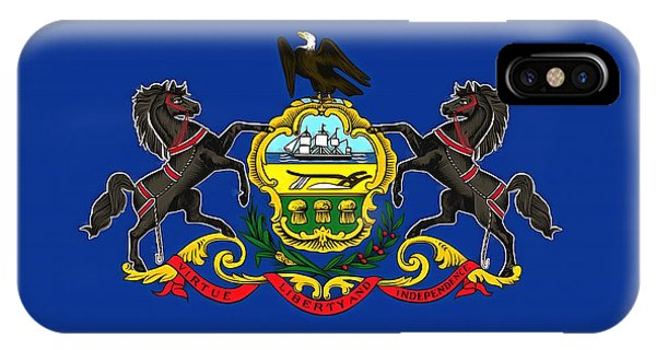 The State Flag Of Pennsylvania IPhone Case