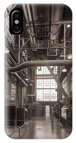 The Stegmaier Brewery Boiler Room Wilkes Barre Pennsylvania 1930's IPhone Case