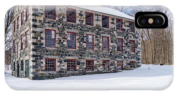 Shaker iPhone Case - The Stone Mill Enfield Nh by Edward Fielding