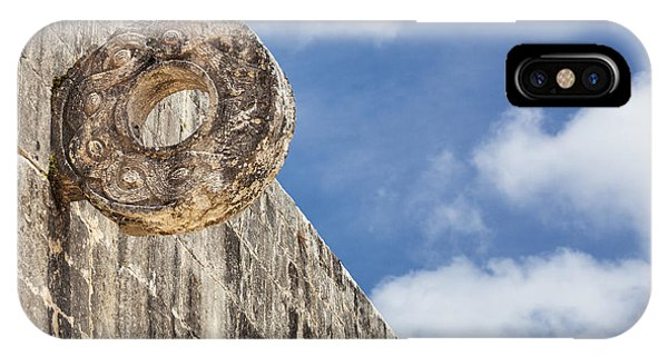 IPhone Case featuring the photograph The Stone Ring At The Great Mayan Ball Court Of Chichen Itza by Bryan Mullennix