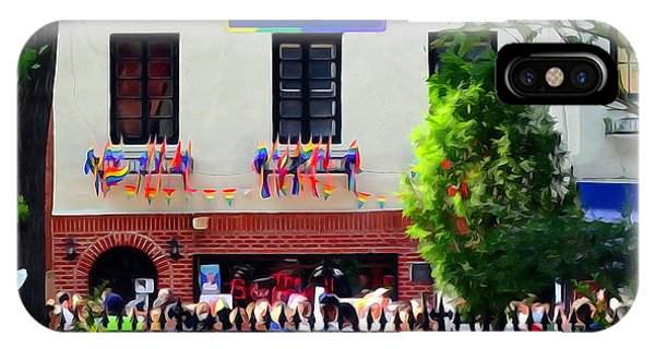 Gay Pride Flag iPhone Case - The Stonewall Inn National Monument by Ed Weidman