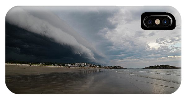 The Storm Rolling In To Good Harbor Beach Gloucester Ma IPhone Case