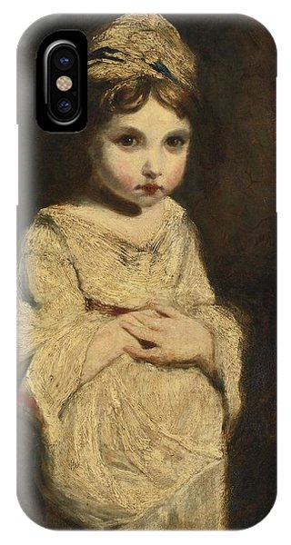 IPhone Case featuring the painting The Strawberry Girl by Studio of Sir Joshua Reynolds